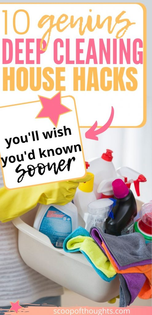 Deep cleaning is tough but it doesn't have to be. Here are genius deep cleaning house hacks you'll wish you'd known sooner! Click for more deep cleaning hacks tips and tricks lazy girl, deep cleaning tips, deep cleaning hacks everything, deep cleaning house hacks tips and tricks, deep cleaning house tips, home hacks, home decluttering, millennial lifestyle, lifestyle tips #cleaninghacks #deepcleaninghacks #deepcleaning #cleaningtips