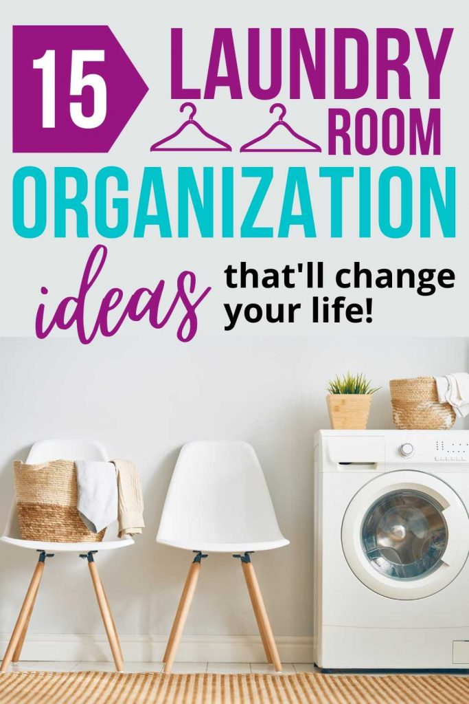 Making your laundry look more organized and put together might just help you feel more serene and efficient. Here are practical laundry room organization ideas you'll actually want to try! Click to read more home organization ideas, home decor, home decluttering, and millennial lifestyle tips. #homedecor #homeorganization #homedecluttering #laundryroom #laundry